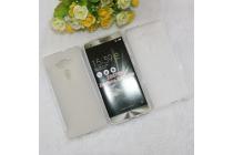 """Фирменная ультра-тонкая силиконовая задняя панель-чехол-накладка для ASUS ZenFone 3 Deluxe ZS570KL 5.7"""" белая"""
