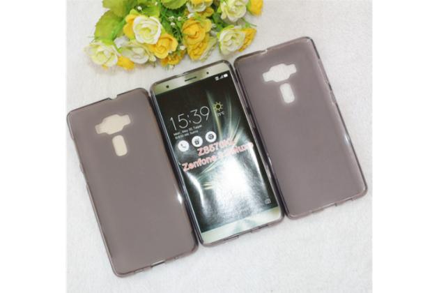 """Фирменная ультра-тонкая силиконовая задняя панель-чехол-накладка для ASUS ZenFone 3 Deluxe ZS570KL 5.7"""" серая"""