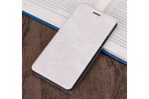 """Фирменный премиальный чехол-книжка из качественной импортной кожи с мульти-подставкой и визитницей на жёсткой металлической основе для for ASUS ZenFone 3 Deluxe ZS570KL 5.7"""" """"Винтаж"""" белый"""