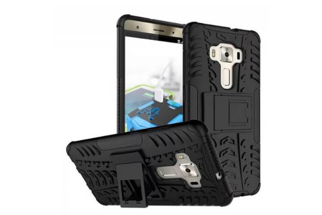 """Противоударный усиленный ударопрочный фирменный чехол-бампер-пенал для ASUS ZenFone 3 Deluxe ZS570KL 5.7"""" черный"""
