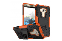 """Противоударный усиленный ударопрочный фирменный чехол-бампер-пенал для ASUS ZenFone 3 Deluxe ZS570KL 5.7"""" оранжевый"""