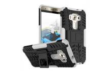 """Противоударный усиленный ударопрочный фирменный чехол-бампер-пенал для ASUS ZenFone 3 Deluxe ZS570KL 5.7"""" белый"""