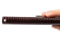 Фирменный чехол-книжка с подставкой для  ASUS ZenFone 3 Max ZC520TL 5.2 (X008D Z01B) лаковая кожа крокодила коричневого цвета