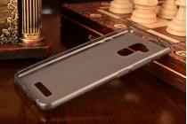 Фирменная ультра-тонкая полимерная из мягкого качественного силикона задняя панель-чехол-накладка для ASUS ZenFone 3 Max ZC520TL 5.2 серая