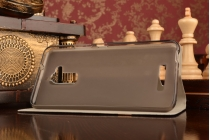 Фирменный чехол-книжка для ASUS ZenFone 3 Max ZC520TL 5.2 синий с золотой полосой водоотталкивающий