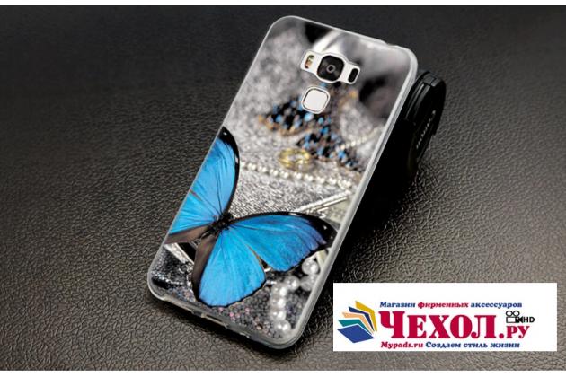 """Фирменная силиконовая задняя панель-чехол-накладка с безумно красивым расписным рисунком Бабочки для ASUS ZenFone 3 Max ZC553KL 5.5"""""""