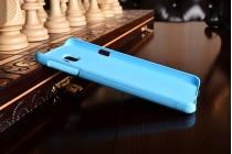 Фирменная задняя панель-крышка-накладка из тончайшего и прочного пластика для Samsung Galaxy A3 (2016) SM-A310/ A3100/ A310F 4.7 голубая