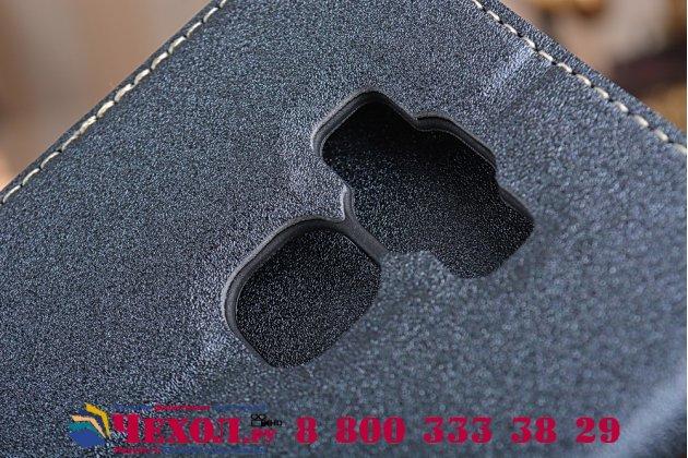 """Фирменный оригинальный чехол-книжка для ASUS ZenFone 3 Max ZC553KL 5.5"""" черный водоотталкивающий"""