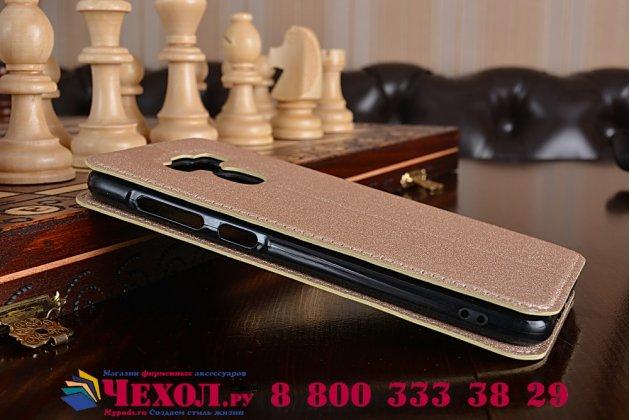 """Фирменный оригинальный чехол-книжка для ASUS ZenFone 3 Max ZC553KL 5.5"""" золотой  водоотталкивающий"""