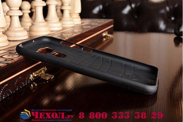 """Фирменная премиальная элитная крышка-накладка на ASUS ZenFone 3 Max ZC553KL 5.5"""" коричневая из качественного силикона с дизайном под кожу"""