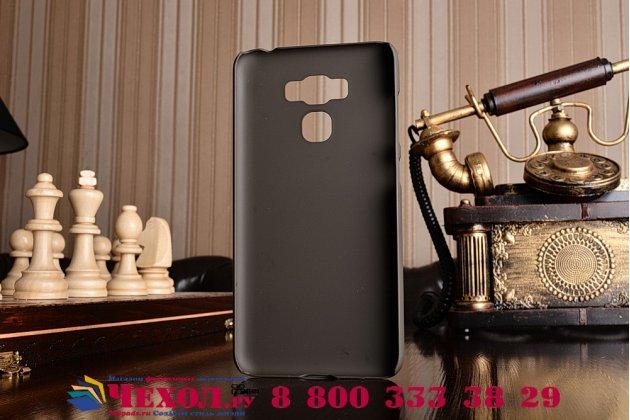 """Фирменная задняя панель-крышка-накладка из тончайшего и прочного пластика для ASUS ZenFone 3 Max ZC553KL 5.5"""" коричневая"""