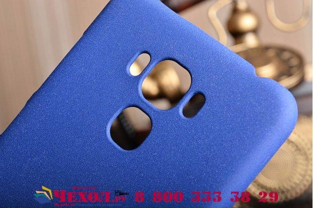"""Фирменная задняя панель-крышка-накладка из тончайшего и прочного пластика для ASUS ZenFone 3 Max ZC553KL 5.5"""" синяя"""