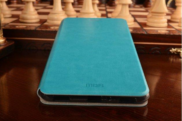 """Фирменный чехол-книжка водоотталкивающий с мульти-подставкой на жёсткой металлической основе для ASUS ZenFone 3 Ultra ZU680KL 6.8"""" голубой"""