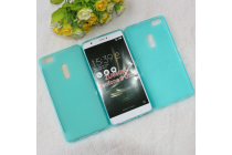 """Фирменная ультра-тонкая силиконовая задняя панель-чехол-накладка для ASUS ZenFone 3 Ultra ZU680KL 6.8"""" голубая"""
