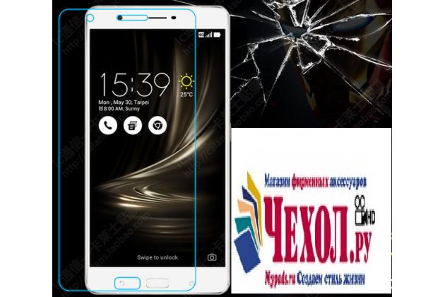 """Фирменное защитное закалённое противоударное стекло премиум-класса из качественного японского материала с олеофобным покрытием для телефона ASUS ZenFone 3 Ultra ZU680KL 6.8"""""""