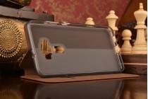 """Фирменный премиальный чехол-книжка из качественной импортной кожи с мульти-подставкой и визитницей на жёсткой металлической основе для ASUS Zenfone 3 ZE552KL 5.5"""" """"Винтаж"""" коричневый"""