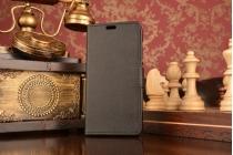 """Фирменный чехол-книжка из качественной импортной кожи с подставкой застёжкой и визитницей для Асус Зенфон Лайв Г500ТГ 5.0"""" черный"""