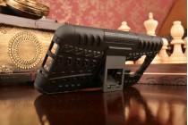 """Противоударный усиленный ударопрочный фирменный чехол-бампер-пенал для ASUS Zenfone 3 ZE552KL 5.5"""" черный"""