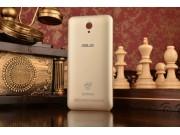 Родная оригинальная задняя крышка-панель которая шла в комплекте для ASUS ZenFone C ZC451CG Z007 золотая..