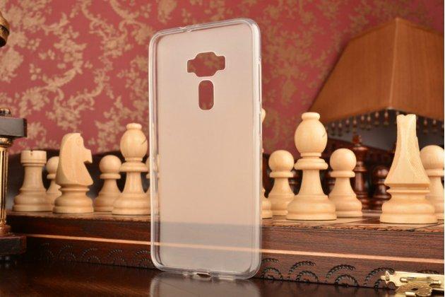 """Фирменная ультра-тонкая силиконовая задняя панель-чехол-накладка для ASUS Zenfone 3 ZE552KL 5.5"""" белая"""
