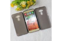 """Фирменная ультра-тонкая силиконовая задняя панель-чехол-накладка для ASUS Zenfone 3 ZE552KL 5.5"""" серая"""