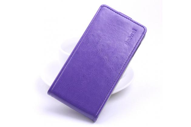 """Фирменный оригинальный вертикальный откидной чехол-флип для ASUS Zenfone 3 ZE552KL 5.5"""" фиолетовый кожаный"""