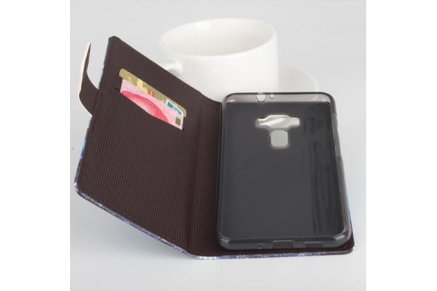 """Фирменный уникальный необычный чехол-подставка для ASUS Zenfone 3 ZE552KL 5.5"""" """"тематика Париж"""""""
