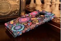 """Фирменный уникальный необычный чехол-подставка с визитницей кармашком для ASUS Zenfone 3 ZE552KL 5.5"""" """"тематика разноцветные узоры в галактике"""""""