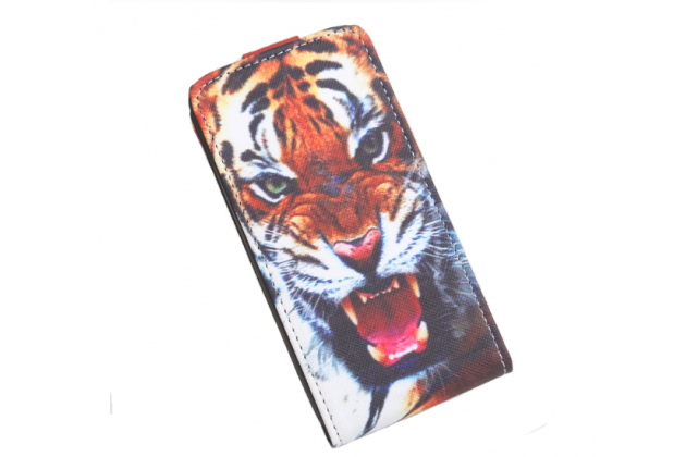 """Фирменный вертикальный откидной чехол-флип для ASUS Zenfone 3 ZE552KL 5.5 """"тематика ТигрФирменный вертикальный откидн"""""""