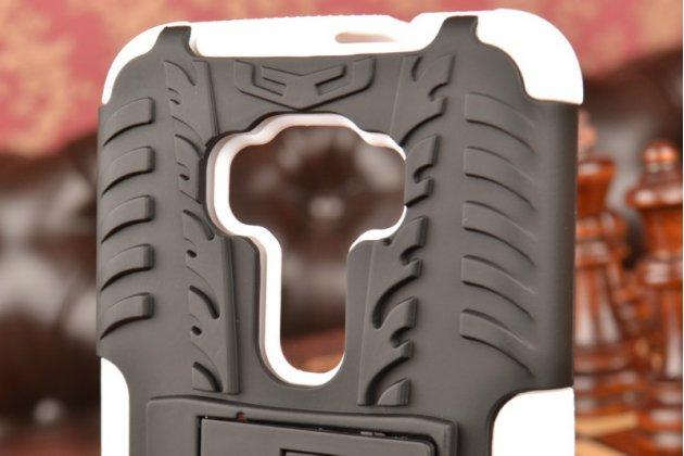 """Противоударный усиленный ударопрочный фирменный чехол-бампер-пенал для ASUS Zenfone 3 ZE552KL 5.5"""" белый"""