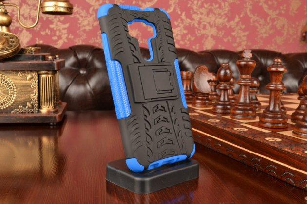 """Противоударный усиленный ударопрочный фирменный чехол-бампер-пенал для ASUS Zenfone 3 ZE552KL 5.5"""" синий"""