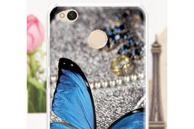 """Фирменная ультра-тонкая полимерная из мягкого качественного силикона задняя панель-чехол-накладка для ASUS ZenFone Live ZB501KL тематика """"Бабочка"""""""