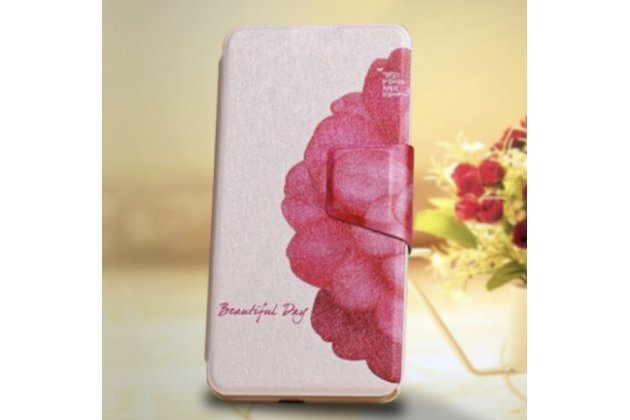 """Фирменный уникальный необычный чехол-книжка для  ASUS ZenFone Selfie ZD551KL  """"тематика Цветок"""""""