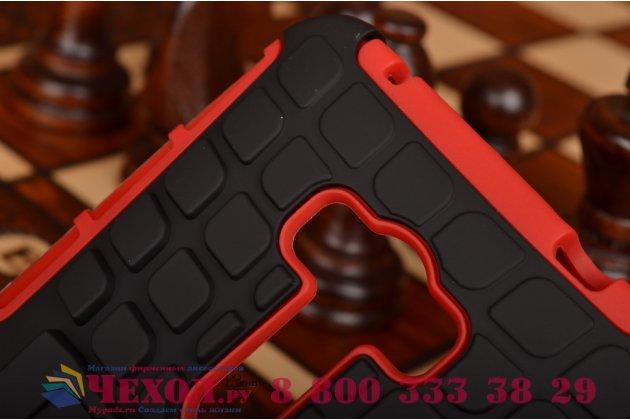 Противоударный усиленный ударопрочный фирменный чехол-бампер-пенал для ASUS ZenFone Selfie ZD551KL красный