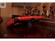 Противоударный усиленный ударопрочный фирменный чехол-бампер-пенал для ASUS ZenFone Selfie ZD551KL красный..