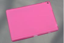 Фирменная ультра-тонкая полимерная из мягкого качественного силикона задняя панель-чехол-накладка для ASUS ZenPad 10 Z300CG/Z300CL/Z300C/ZD300CL/Z300M красная