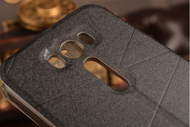 """Фирменный чехол-книжка для ASUS Zenfone 2 Lazer ZE500KL 5.0""""  черный с окошком для входящих вызовов водоотталкивающий"""