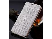 Фирменный роскошный эксклюзивный чехол с объёмным 3D изображением рельефа кожи крокодила белый для ASUS Zenfon..