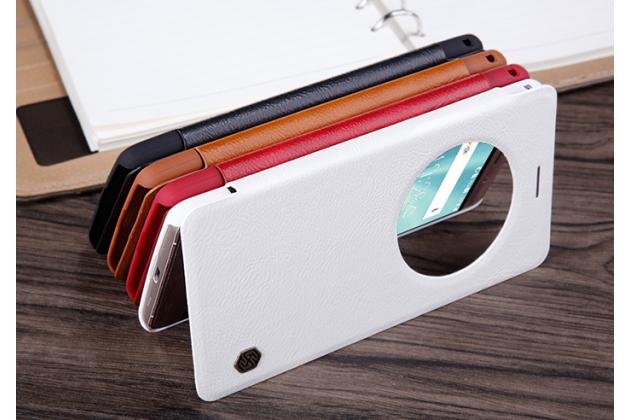 Фирменный оригинальный чехол-книжка для ASUS ZenFone 3 Deluxe ZS570KL 5.7 (Z016D) белый с окошком для входящих вызовов водоотталкивающий