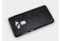 Фирменный оригинальный чехол-книжка для ASUS ZenFone 3 Deluxe ZS570KL 5.7 (Z016D) чёрный с окошком для входящих вызовов водоотталкивающий