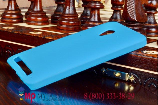 """Фирменная задняя панель-крышка-накладка из тончайшего и прочного пластика для ASUS Zenfone 4 A450CG 4.5"""" бирюзовая"""