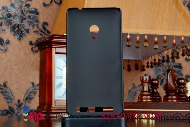 """Фирменная задняя панель-крышка-накладка из тончайшего и прочного пластика для ASUS Zenfone 4 A450CG 4.5"""" черная"""
