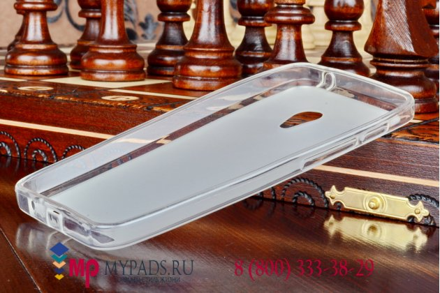 """Фирменная ультра-тонкая полимерная мягкая задняя панель-чехол-накладка для ASUS Zenfone 4 A450CG 4.5"""" белая"""