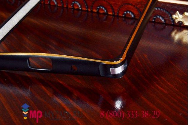 Ультра-тонкий чехол-бампер для Asus Zenfone 5 A500CG/A501CG черный металлический