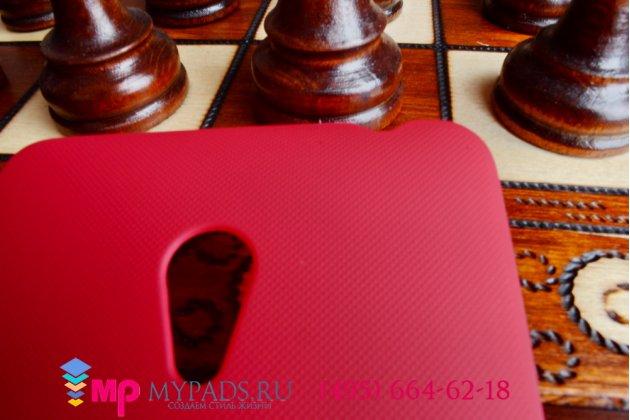 Фирменная задняя панель-крышка-накладка из тончайшего и прочного пластика для ASUS Zenfone 6 A600CG/A601CG красная