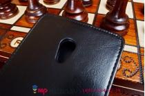 """Фирменный оригинальный вертикальный откидной чехол-флип для ASUS Zenfone 6 A600CG/A601CG черный из качественной импортной кожи """"Prestige"""" Италия"""