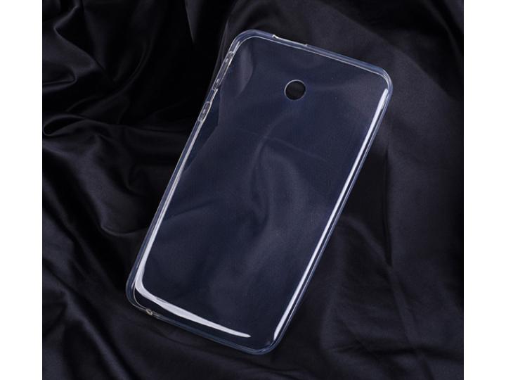 Фирменная ультра-тонкая полимерная из мягкого качественного силикона задняя панель-чехол-накладка для Asus Fon..