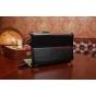 Фирменный чехол-обложка для Asus Fonepad 7 ME372CG/ME372CL model K00E/K00Y черный натуральная кожа