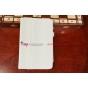 """Фирменный чехол-обложка для Asus FonePad HD 7 ME372CG с визитницей и держателем для руки белый натуральная кожа """"Prestige"""" Италия"""
