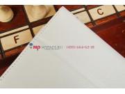 Фирменный чехол-обложка для Asus FonePad HD 7 ME372CG с визитницей и держателем для руки белый натуральная кож..
